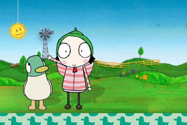 Sarah y pato